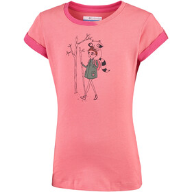 Columbia Lost Trail Short Sleeve Tee Girls Hot Coral